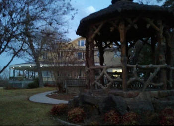 Gazebo in the Evening at Haven River Inn
