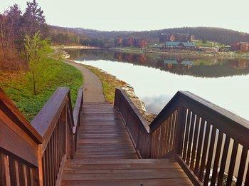Walking path at Stonebridge Resort.