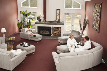 Spa lounge at the Millcroft Inn & Spa.
