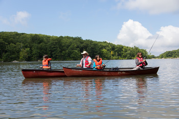 Canoeing at Crystal Springs Resort.