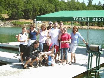 Family reunions at Tsasdi Resort.