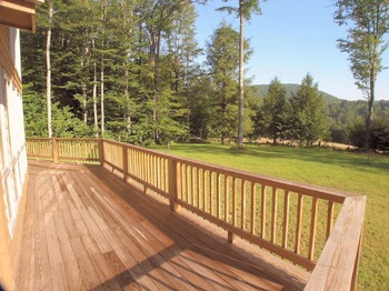 Vacation rental deck at Beaver Ridge and Northpoint.