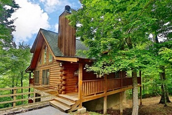 Cabin exterior at Little Valley Mountain Resort.