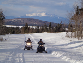Snowmobiling at 5 Lakes Lodge