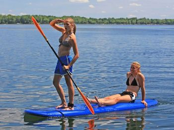 Paddle boarding at Big McDonald Resort.