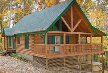 Cabin Exterior at Hummingbird Hill Rentals