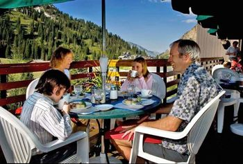 Family at Alta Lodge.