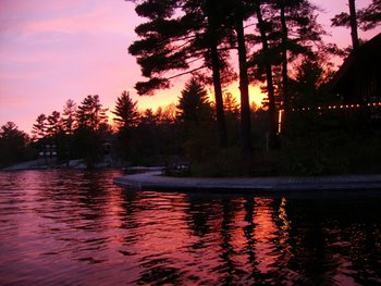 Sunset at Westwind Inn on the Lake.