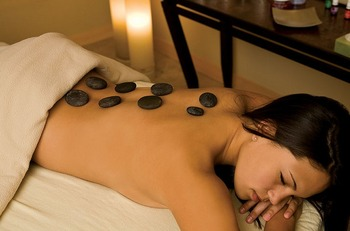 Hot stone massage at Surfside on Lake Superior.