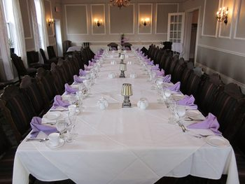 Dinner party at Elm Hurst Inn & Spa.
