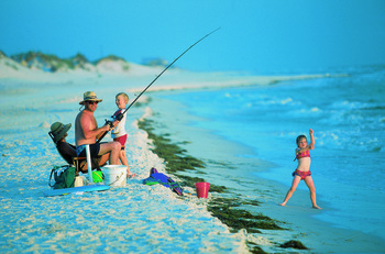 Fishing at Bermuda Bay Resort.