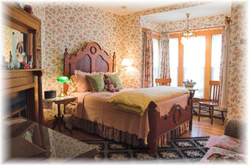Guest room at the White Lace Inn.