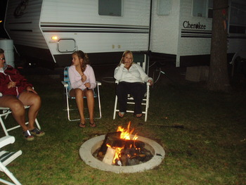 Campfire at Sullivans Resort & Campground.