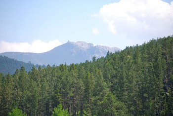 Mountains at Newton Fork Ranch.