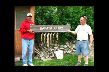 Fishing at Sakatah Bay Resort Motel.