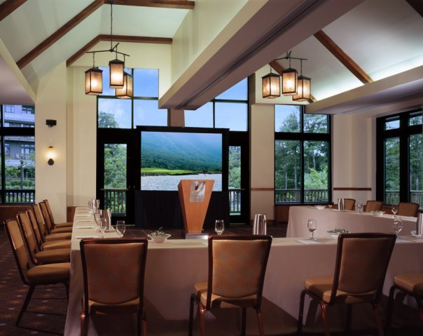 Meeting room at Stowe Mountain Lodge.