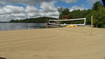 The beach at Ampersand Bay Resort & Boat Club.