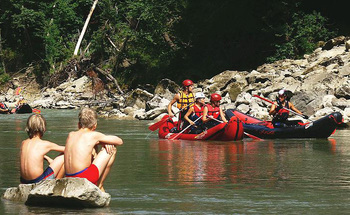 Water activities at Arcadia Coves.