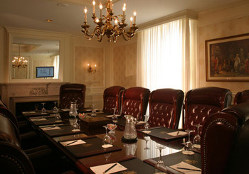 Conference table at The Jefferson Hotel.