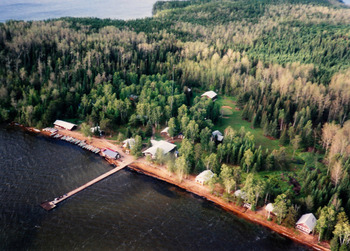 Aerial View of Sandy Beach Lodge