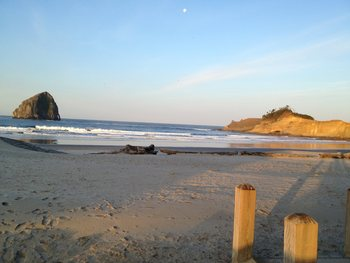 The beach at Inn at Cape Kiwanda.