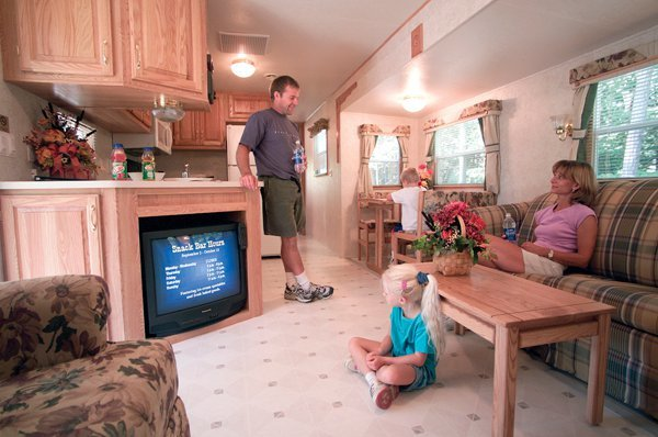 Lodging rental at Lake George RV Park.