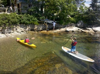 Family activities at Linekin Bay Resort.