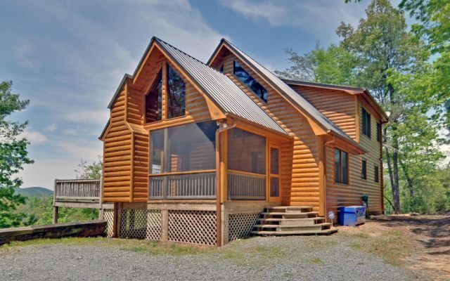 Blue ridge vacation rentals cabin gorgeous brand new 3 for Large cabin rentals north georgia