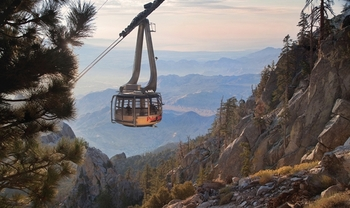 Tram ride up the mountain at Random Haus.