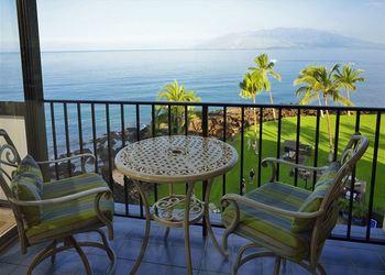 Balcony view at Maui Vacation Rentals.