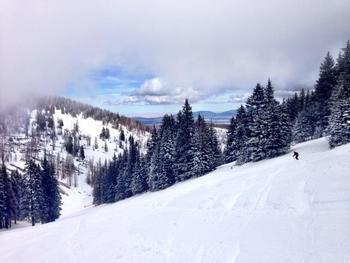 Skiing at Village Lodge Suites.