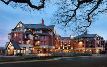 Exterior view of Oak Bay Beach Hotel.