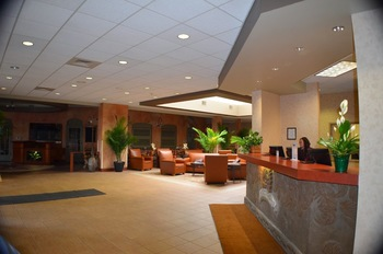 Lobby view at Ambers Resort and Conference Center.