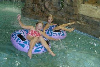 Indoor water park at Arrowwood Resort.