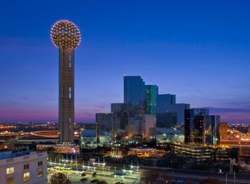 Skyline at Hyatt Regency Dallas.