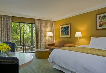 Guest room at The Woodlands Resort & Conference Center.