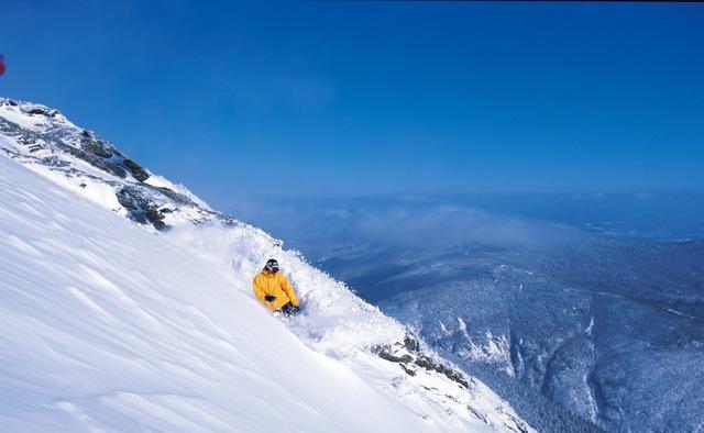 Snowboarding near Northern Lights Lodge.