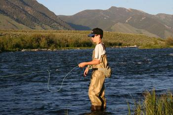 River fishing at Madison Management.