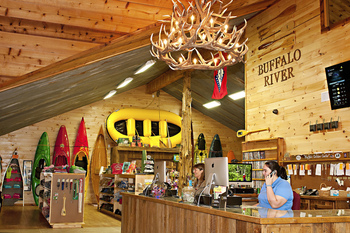 Outdoor outfitter at Buffalo Outdoor Center.