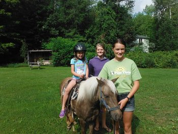 Horseback riding at Pine Vista Resort.