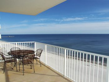 Vacation rental balcony at Young's Suncoast.