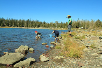Fishing at Sisters Vacation Rentals.