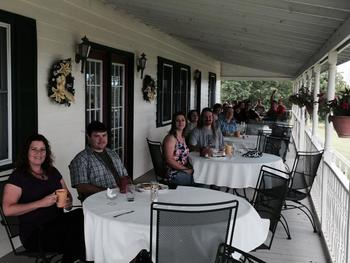 Patio dining at The Inn at Grist Iron.
