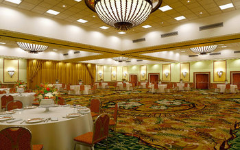 Banquet room at Cheyenne Mountain Resort.