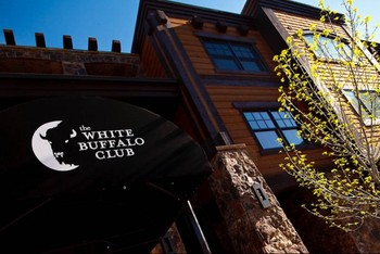 Exterior view of White Buffalo Club.