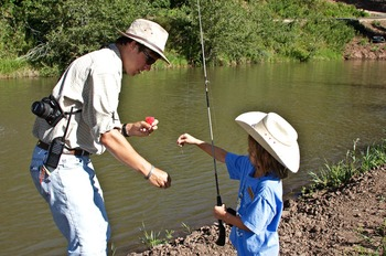 Fishing at Colorado Trails Ranch.