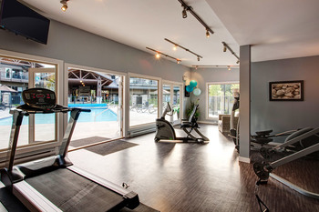 Fitness room at Sunrise Ridge Waterfront Resort.