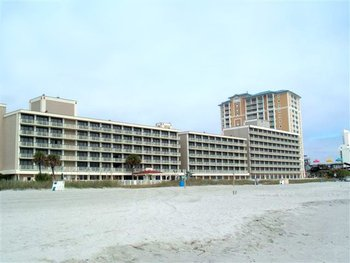 Beach and resort view at Westgate Myrtle Beach.
