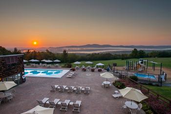 Outdoor pools at Steel Hill Resort.