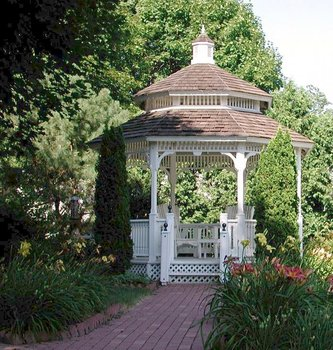 Gazebo at White Lace Inn.
